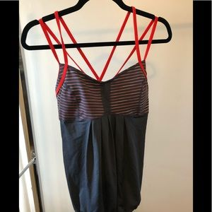 Zella - size L - grey and orange running tank top